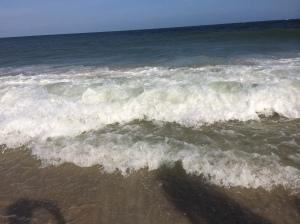 Carolina Beach and our shadows.