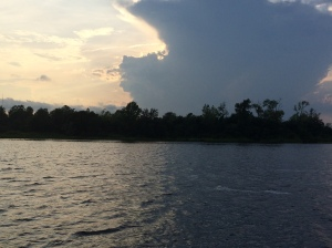 Cape Fear River and the storm rolling in.