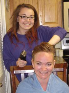 Adelle Shaving my head